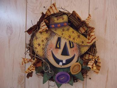 #5051 Happy Scarecrow Wreath