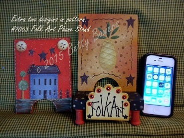 #7063 Folk Art Phone Stand