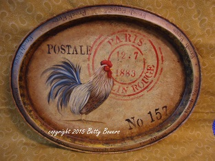 #7097 Rooster Tray