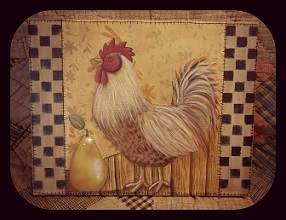 #8044 Rooster and the Pear