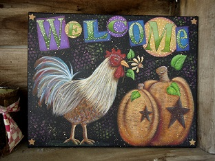 #8048 Welcome Fall Rooster