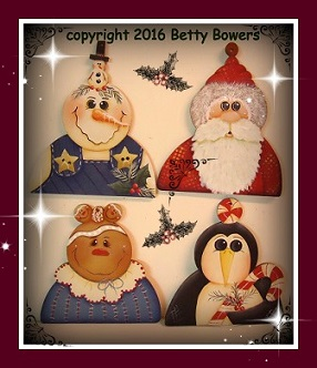 #8075 Four Chilly Ornaments