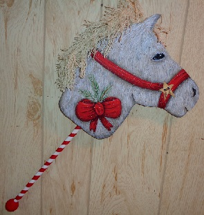 #8178 Holiday Stick Horse
