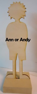 Wood Ann or Andy paper doll
