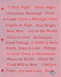 BCS 293 Blessed Christmas Words