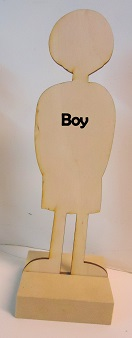 Wood Boy Paper Doll body
