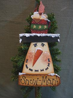 #4086 Snow-Man Ornament