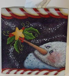 #5074 Wintery Tissue Box