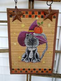 #5047 Cat Fall Wall Hanging