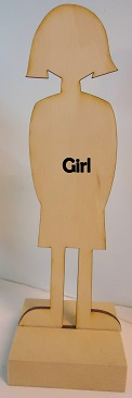 Wood Girl Paper Doll