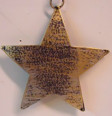 Metal Five Point Star