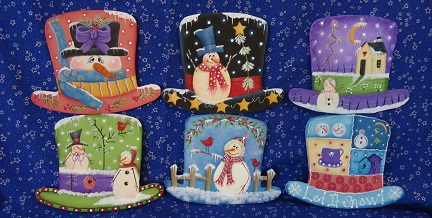 #6059 Frosty Hat Ornaments