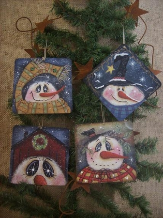 #ep2094 Frozen Silly 4 wood ornaments