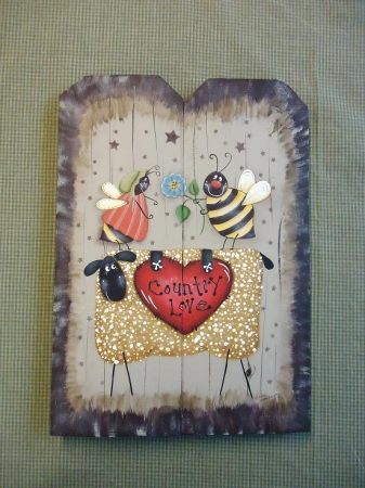 #3068 Country Love Plaque Pattern