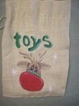 #3036 Reindeer Sack-stocking Pattern