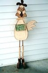 "#1064-Wood-n Chicken 45"" tall - Pattern Packet"
