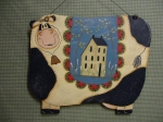#4010 Penny Rug Cow