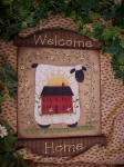 #3050 Welcome Home Sheep Plaque Pattern