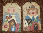 #0105 Spring/Fall lg. wood tags-pattern packet
