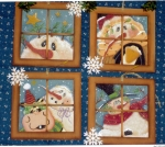#0111 Four Snow Windows Ornaments-Pattern Packet
